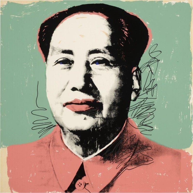 Sérigraphie Warhol - Mao #95