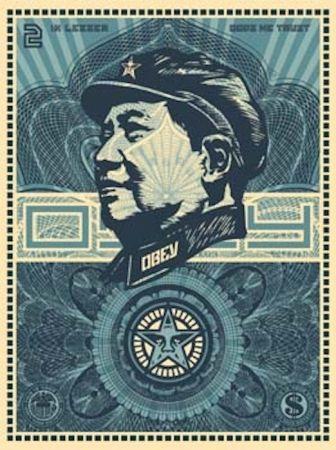 Sérigraphie Fairey - Mao Money
