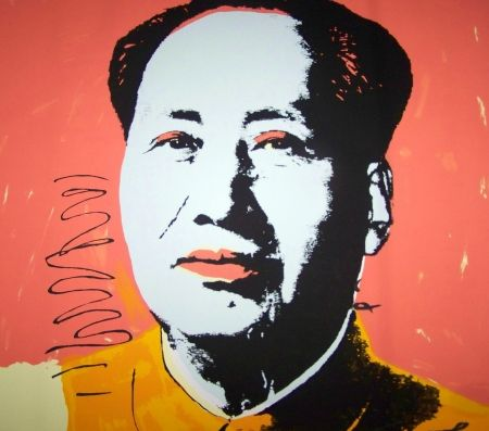 Sérigraphie Warhol (After) - Mao orange