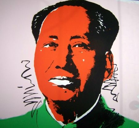 Sérigraphie Warhol (After) - Mao orange vert