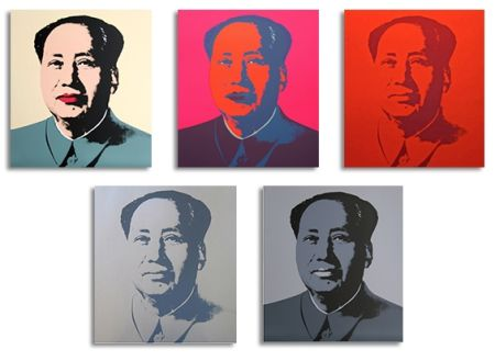 Sérigraphie Warhol (After) - Mao Silkscreen Prints (by Sunday B. Morning)