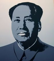 Sérigraphie Warhol (After) - Mao silver