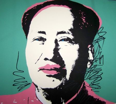 Sérigraphie Warhol (After) - Mao vert rose
