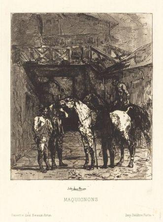 Eau-Forte Et Aquatinte Lewis-Brown - Maquignons / Horse Dealers