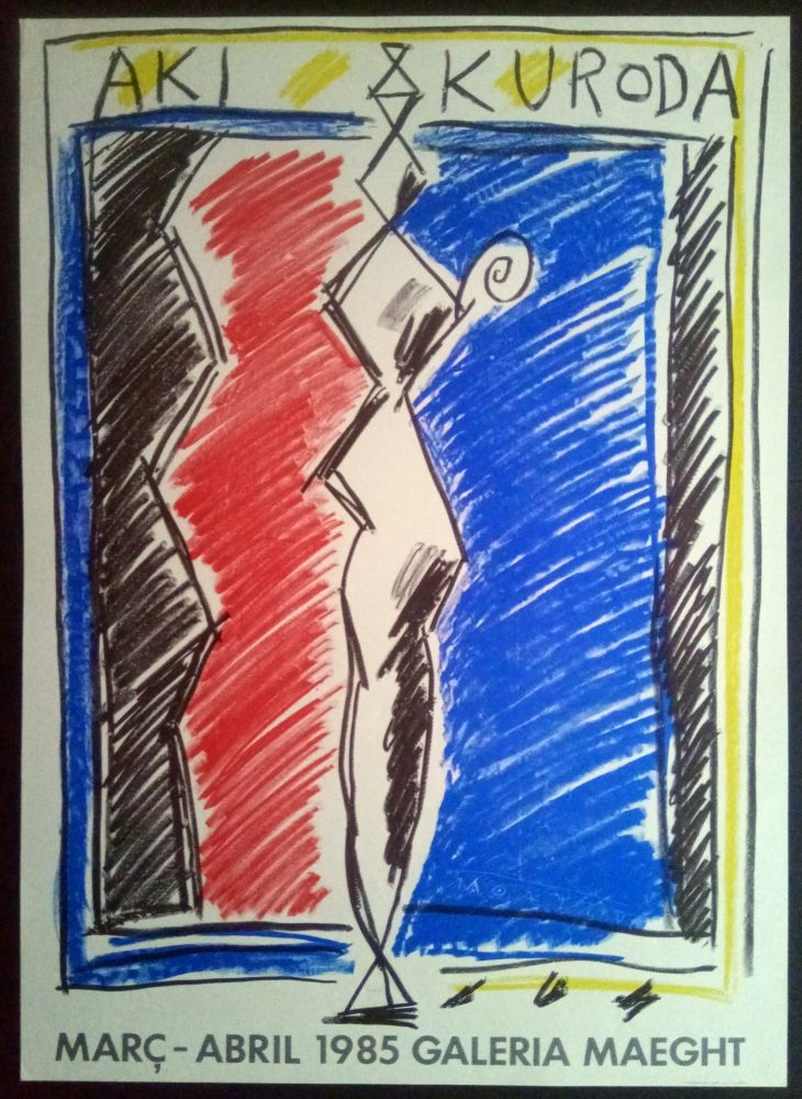 Affiche Kuroda - Març Abril - Galeria Maeght 1985