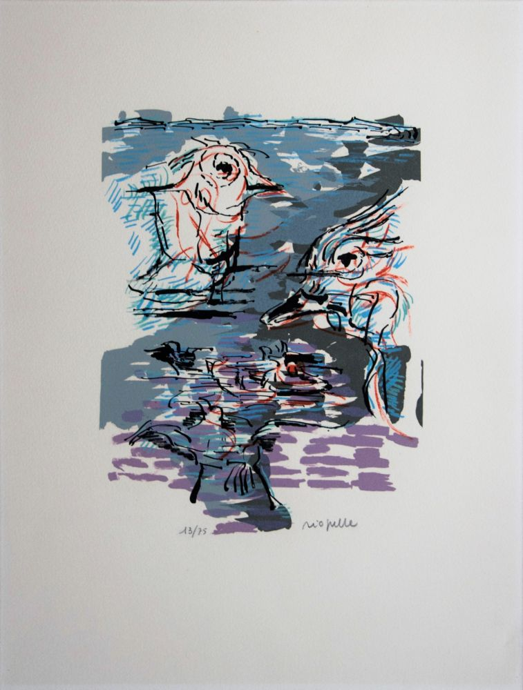 Lithographie Riopelle - Marécage