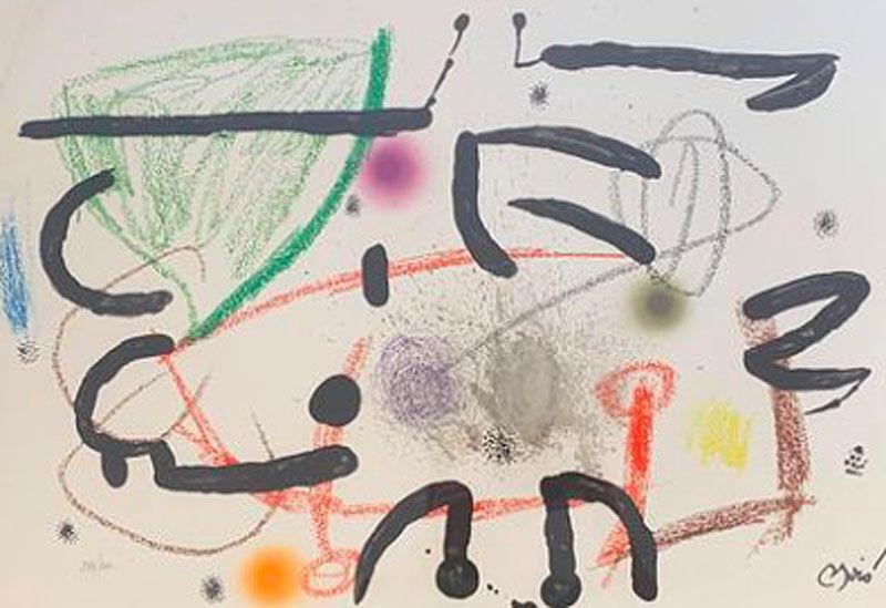 Aucune Technique Miró - Maravillas con variaciones acrosticas en el jardin de Miro XV