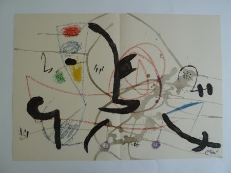 Lithographie Miró - Maravillas XI