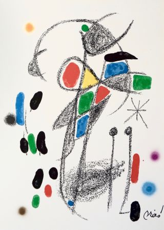 Lithographie Miró - Maravillascon variaciones arcrosticas 18