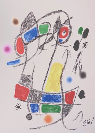 Lithographie Miró - Maravillascon variaciones arcrosticas n°1