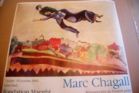 Affiche Chagall - Marc Chagall - Cartel Exposicion Retrospectiva Fundacion Maeght 1984