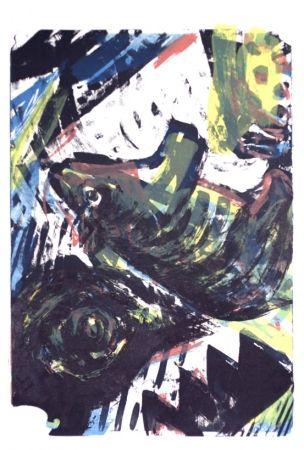 Lithographie Cognée  - Marcassin
