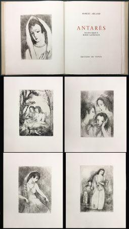 Livre Illustré Laurencin - Marcel Arland : ANTARES. Exemplaire avec suite (1944).