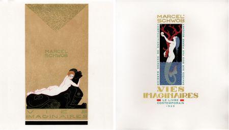 Livre Illustré Barbier - Marcel Schwob : VIES IMAGINAIRES. Compositions par George Barbier. Le Livre Contemporain (1929).