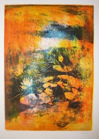 Lithographie Lebadang - Mare aux lotus 2