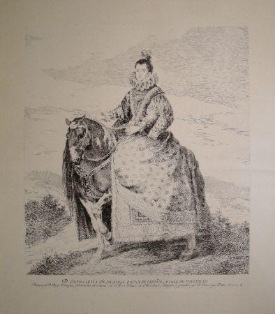 Eau-Forte Goya - Margarita de Austria Reyna de Espagna, Muger de Phelipe III