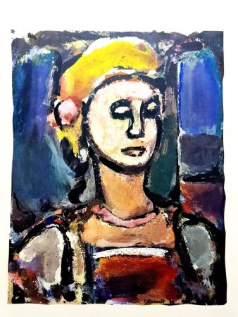 Lithographie Rouault (After) - Margot