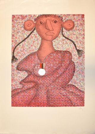 Gravure Baj - Marguerite d'Angouleme, Reine de Navarre