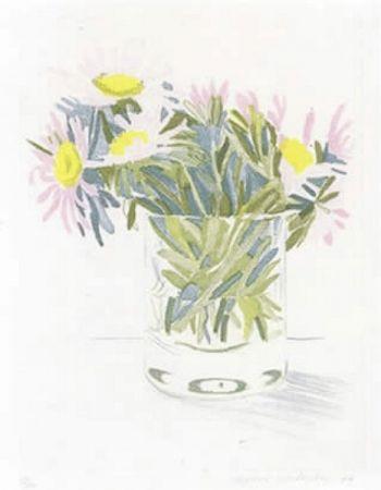 Eau-Forte Et Aquatinte Hockney - Marguerites