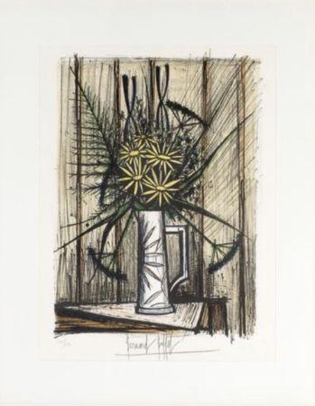 Lithographie Buffet - Marguerites et Iris