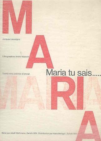 Livre Illustré Masson - Maria, tu sais