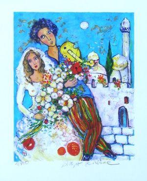 Lithographie Sorkine - Mariage en orient