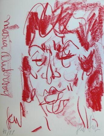 Lithographie Paul  - MARIANE ANDERSON - Portrait - Lithographie Originale / Original Lithograph
