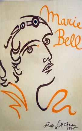 Lithographie Cocteau - Marie Bell