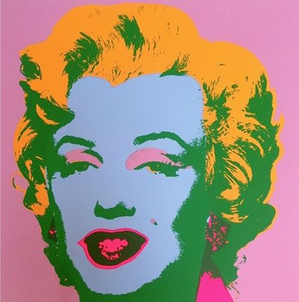 Sérigraphie Warhol - Marilyn ( By Sunday B. Morning )