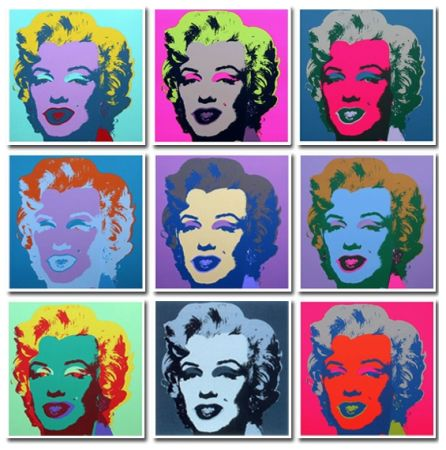 Aucune Technique Warhol (After) - Marilyn Collection a Set of 10 in different colours