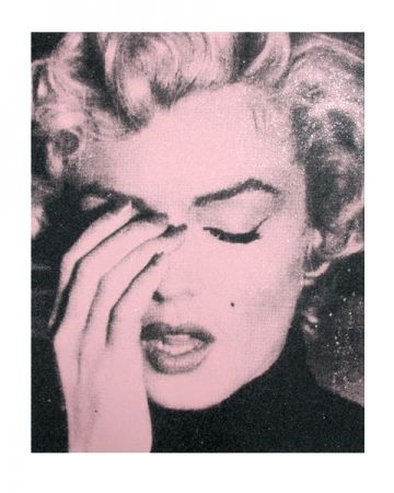 Sérigraphie Young - Marilyn Crying, Powder Pink