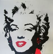 Sérigraphie Warhol - Marilyn golden red gloss