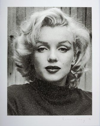 Sérigraphie Young - Marilyn Hollywood (Black & White)