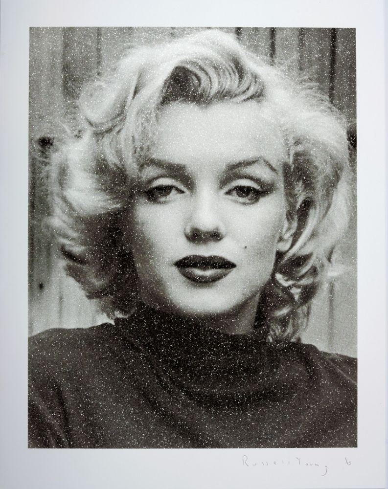 Sérigraphie Young - Marilyn Hollywood B+W