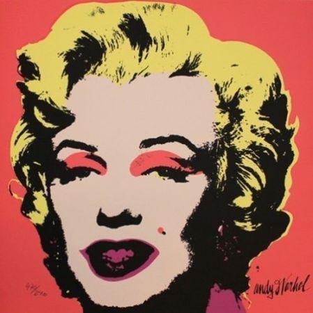 Sérigraphie Warhol (After) - Marilyn Monroe Creme