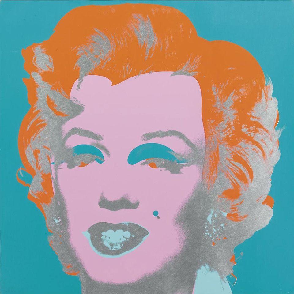 Sérigraphie Warhol - Marilyn Monroe (FS II.29) (Blue/Orange)