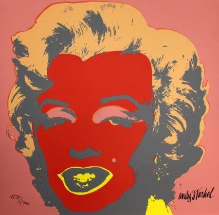 Sérigraphie Warhol - Marilyn Monroe Red