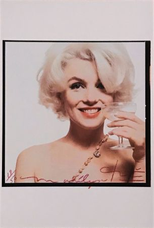 Photographie Stern - Marilyn with Champagne