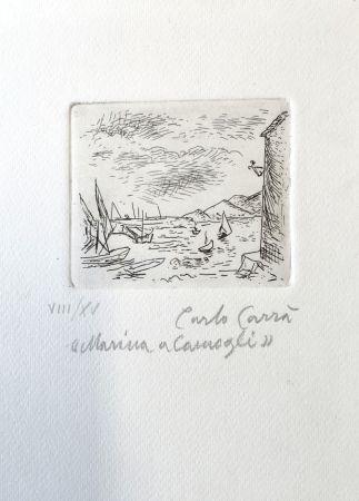 Eau-Forte Carra - Marina a Camogli