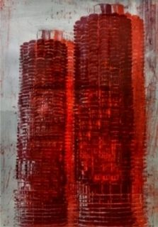 Lithographie Perez - Marina Towers, Chicago