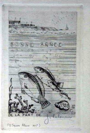 Eau-Forte Laboureur - Marine aux quatre poissons