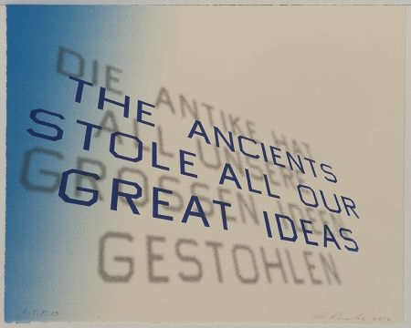 Lithographie Ruscha - Mark Twain Quote