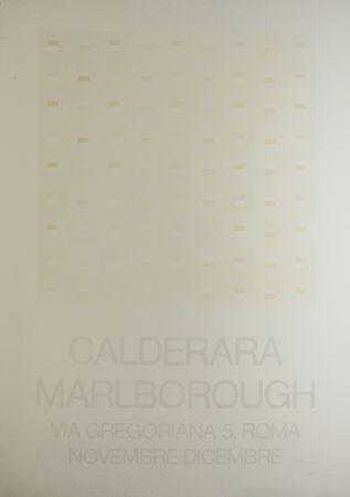 Sérigraphie Calderara - Marlborough (SIGNED silkscreen exhibition poster on fine paper)