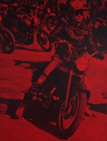 Sérigraphie Young - Marlon Brando (Bike)