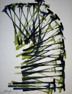 Lithographie Arman - Marteaux