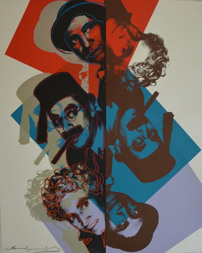 Sérigraphie Warhol - Marx Brothers TP