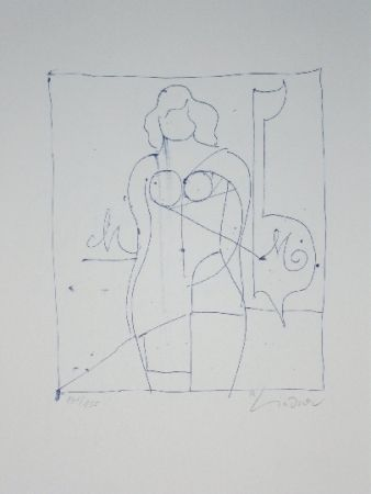 Lithographie Lindner - Marylin was here 11