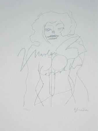Lithographie Lindner - Marylin was here 12