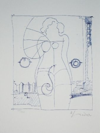Lithographie Lindner - Marylin was here 8