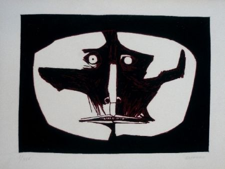 Gravure Guayasamin - Mascara 1 variante